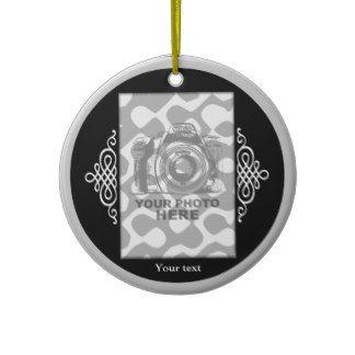 Create Your Own Circle Ornament Black Elegant