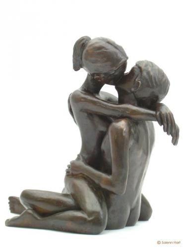 "Statue bronze ""Le Baiser"""