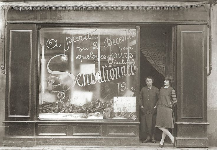 Photo ancien commerce toulouse marchand magasin chaussures tirage repro an 1 - Ancienne vitrine de magasin ...