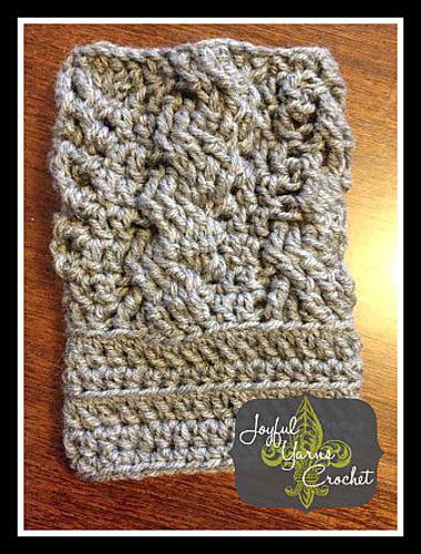 Ravelry: Arabel Cable Boot Cuffs free pattern by Joyful Yarns Crochet
