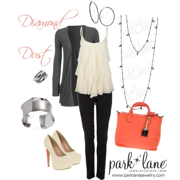 Diamond Dust, created by parklanejewelry on Polyvore  Park Lane Jewelry featured: Diamond Dust necklace  ring, Modern bracelet,  Mix  Match earringsPolyvore Parks, Parks Lane, Diamonds Dust, Modern Bracelets, Cute Outfit, Dust Necklaces, Matching Earrings, Jewelry Features, Lane Jewelry