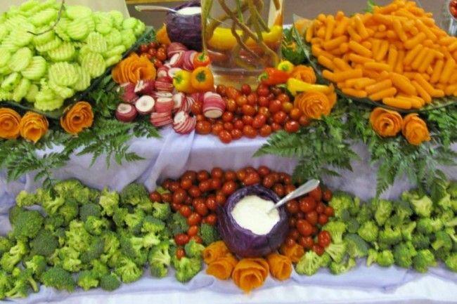 Buffet Table Food Display Ideas Photo Gallery Vegetarian Wedding Reception Food My