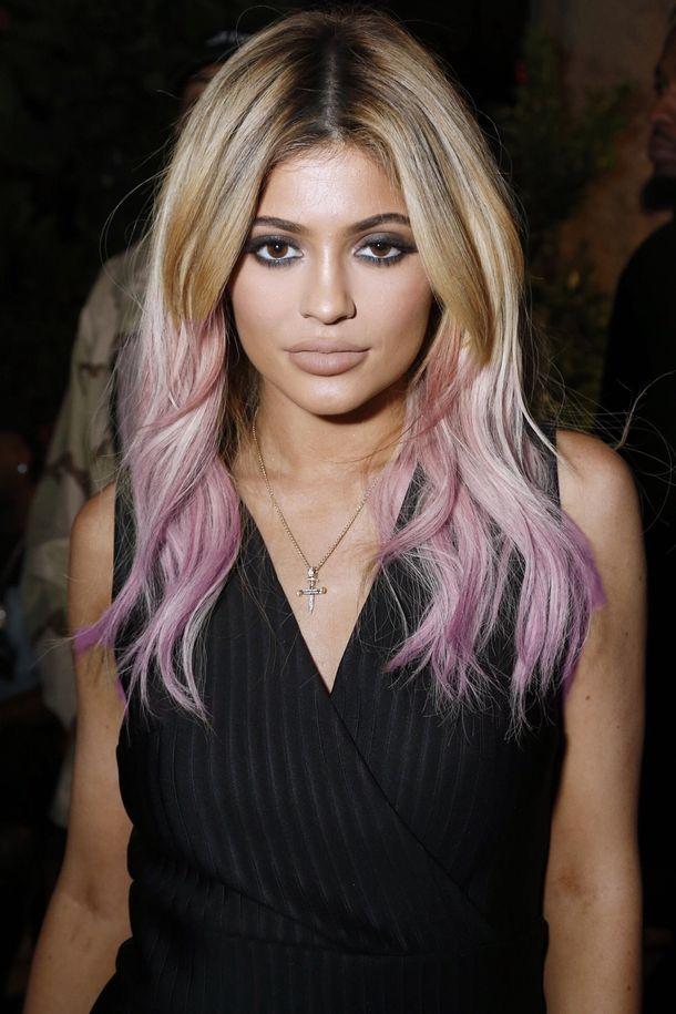 красота, светлые волосы, волосы, Кайли Дженнер, губы, мейк ап