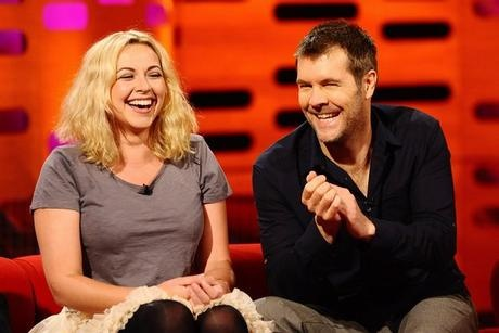 Charlotte Church and comedian Rhod Gilbert