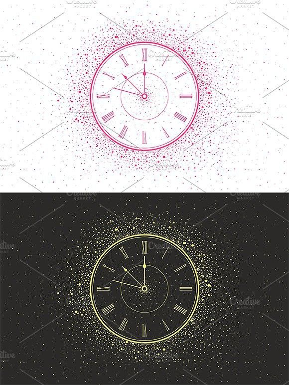 New Year Clock New Year Clock Clock Happy New Year Background