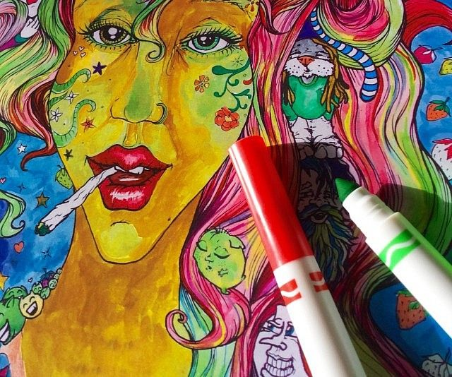 Coloring Book For Stoners - https://interwebs.store/coloring-book-stoners/ #Books+Reading