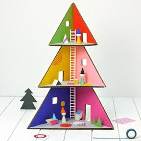 Mr P // Christmas Tree Doll House + other crafts from the world of recycling