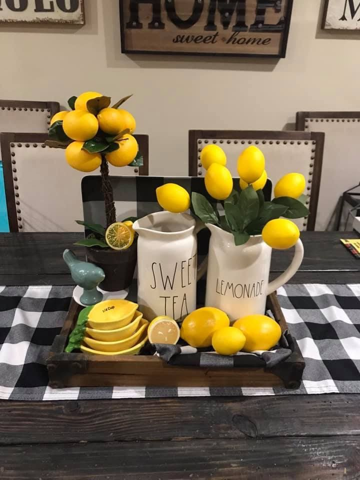 Table Runner With Images Lemon Kitchen Decor Summer Home