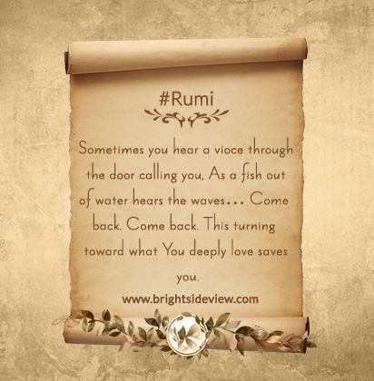 Rumi Short Quotes About Life. #rumi_poetry
