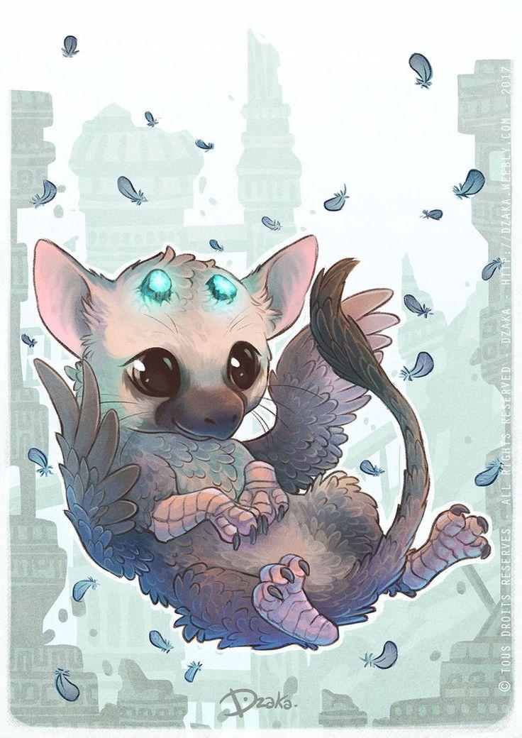 Un petit Trico tout kawai du jeu the last guardian qui est vraiment un pure chef d'oeuvre ! Comment ne pas verser au moins une larme sur ce jeu ^^' C'est un gros coup de cœur pour moi ! Une il...