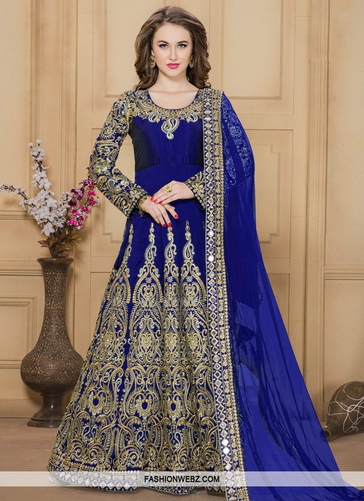 Unique  Embroidered Work Long Length Anarkali Salwar Suit