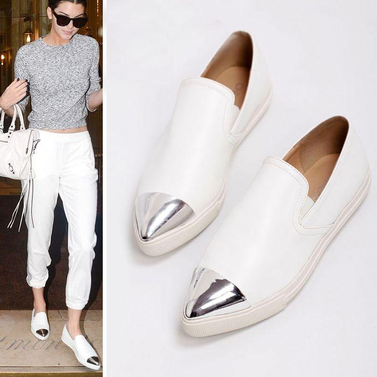 Dress white flats for women