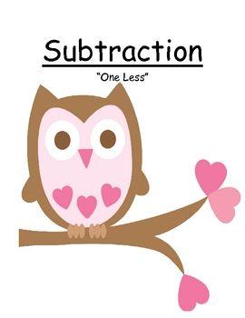 FREE! Valentines Subtraction Less One {Minus 1} Center Game #FREEBIE  #TPT #TeachersFollowTeachers #FernSmithsClassroomIdeas