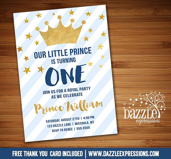 Best 25 Prince birthday party ideas – Prince 1st Birthday Invitations