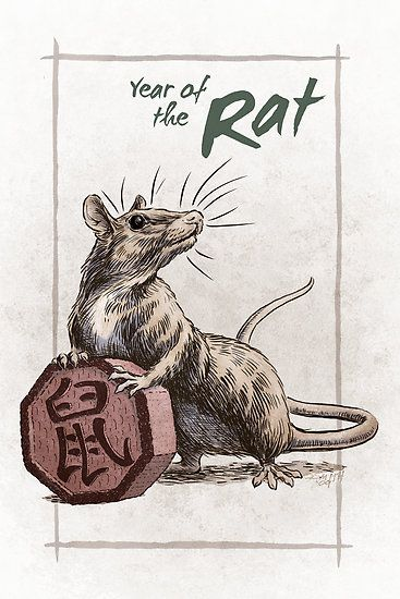 Chinese Zodiac Year Of The Rat By Stephanie Smith Artwork Amp Drawing Pinterest The O Jays