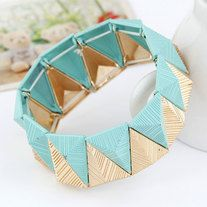 Stretchable Aztec-designed bangle.  Available in 4 colours