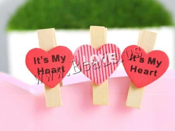 Wood Clip, Heart, brushwork