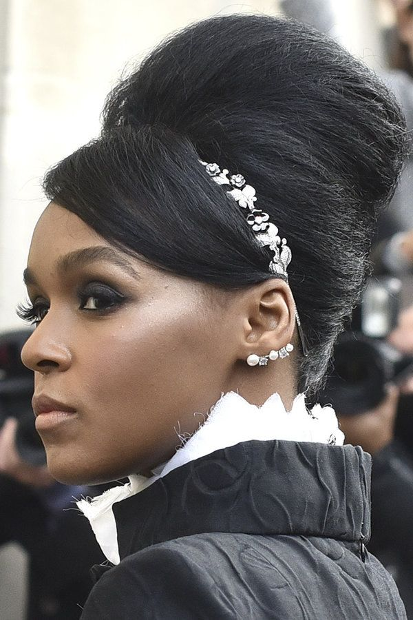 Janelle Monae's Paris Fashion Week Hair Owns Our Best Beauty List Chanel hair accessories. No big deal.  10/09/2015
