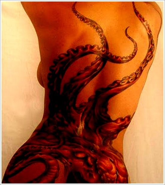 32 Cool Octopus Tattoo Design: Sexy Octopus Tattoo Design For Girl ~ Tattoo Design Inspiration