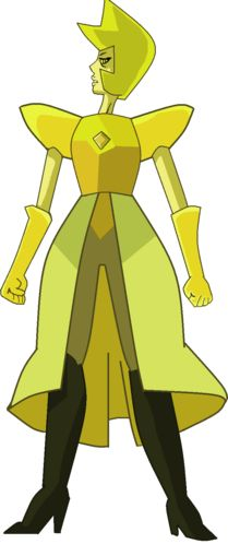 """Who else thinks yellow diamond looks old because white diamond and pink diamond died and a gems """"age"""" is based on their state of mind and she lost some of her's when the other diamonds died"""