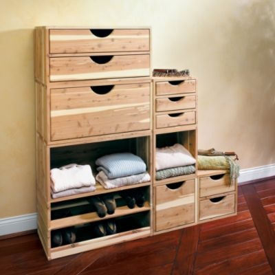 Stackable Red Cedar Closet Storage (Frontgate) Can You Hear Me Singing?