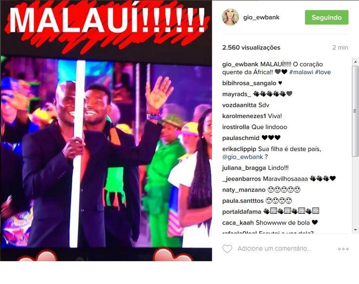 Bruno Gagliasso vibra com passagem do país de 'Titi' na abertura Rio 2016