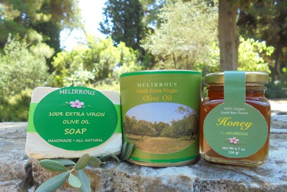 Set of Extra Virgin Olive Oil Forest Raw Honey by MelirrousBees