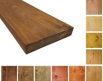 rustikales massivholz wandregal wandboard 19cm tief bcherregal kchenregal versch farben - Geflschte Hartholzbden Ber Teppich