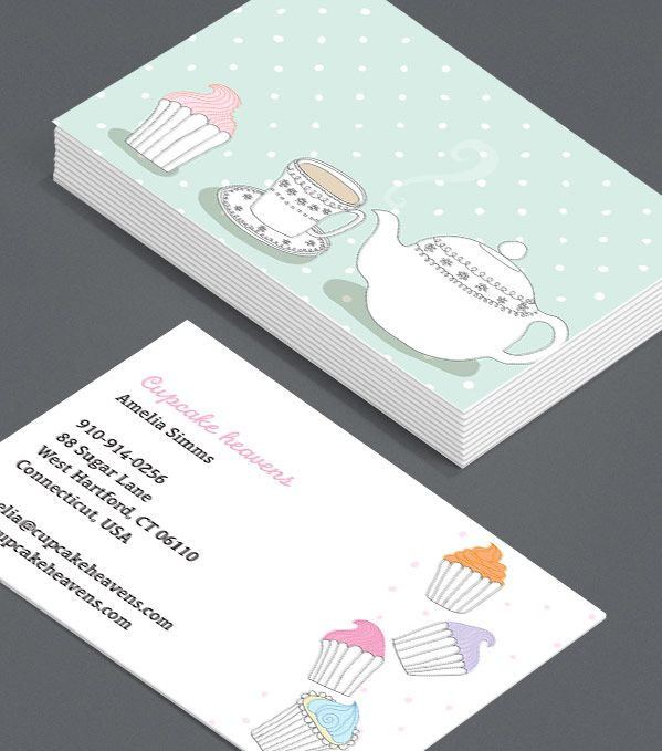 Cute Cupcakes Business Cards That Look Good Enough To Eat What Better Way