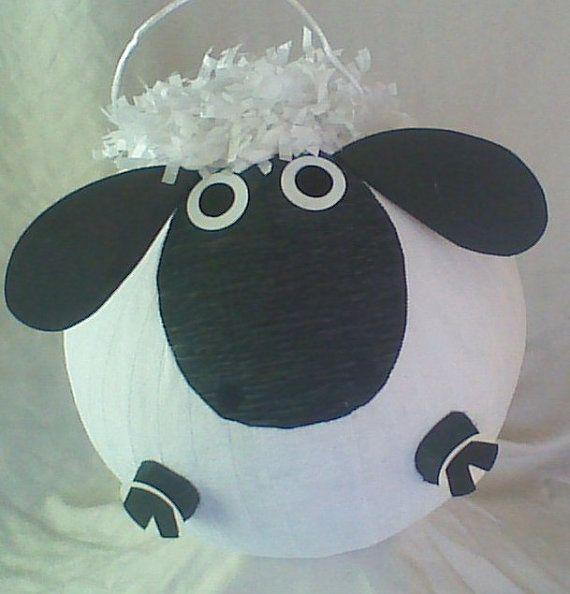 Black Faced Lamb Pinata.  Sheep Pinata