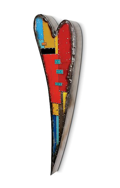 Primary Heart Wall Sculpture by Anthony Hansen: Metal Wall Art available at www.artfulhome.com