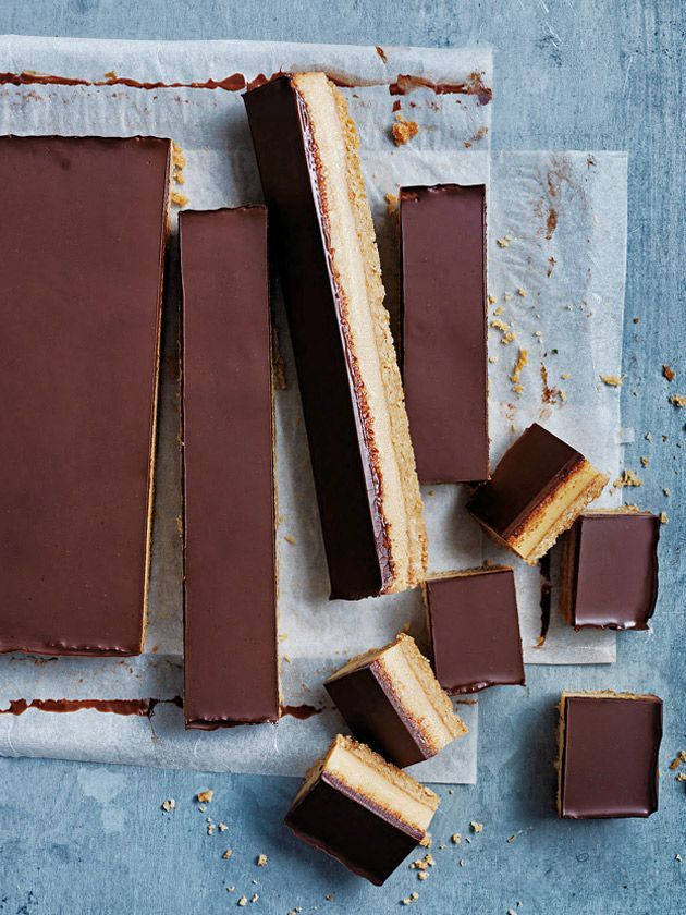 classic chocolate caramel slice from donna hay. food photography, food styling, learn food photography