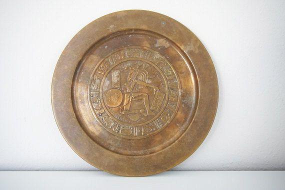 Aztec Decor - Copper Decor - Mexican Home Decor - Juego De Pelota - Copper Plates - Copper Home Accessories - Mexican Wall Decor by EverlastingHeirlooms on Etsy
