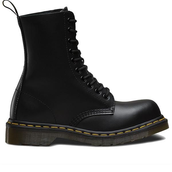 Dr Martens 1919 10-Eye - Black Lace-up Boot