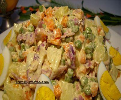 Découvrez notre recette de Salade russe