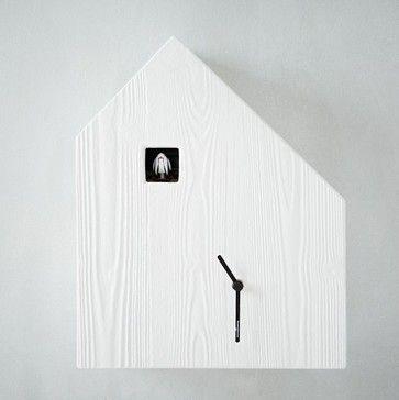 Diamantini Domeniconi Cuckoo Clock Wood Grain Contemporary Clocks
