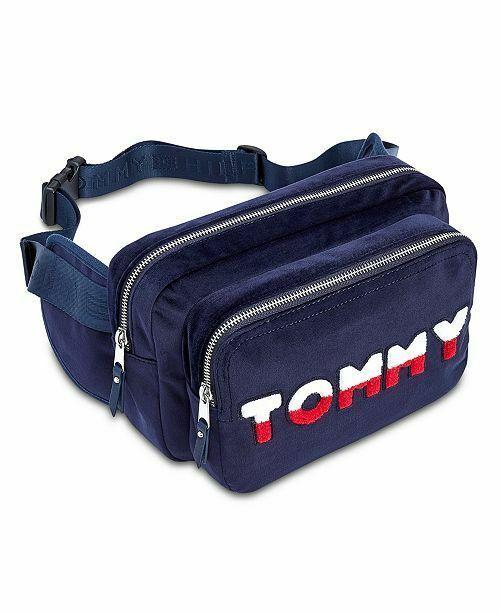 57d3459b Tommy Hilfiger Tommy Velvet Convertible Belt Bag Fanny Pack Navy Blue # TommyHilfiger #BeltBag