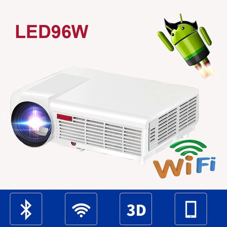 209.00$  Buy now - http://ali8kv.worldwells.pw/go.php?t=32599923564 - LED96 5500lumens 1280x800 Android 4.4 WIFI Video Home Theater LCD 1080P LED Full HD DVB-T TV 3d Projector uC40 Beamer proyector