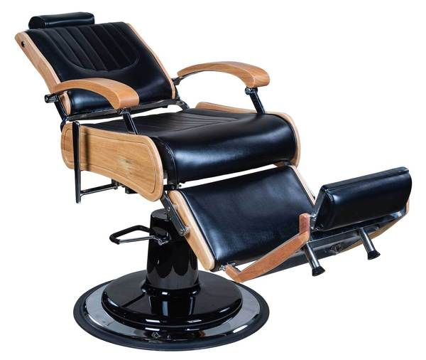 Icarus Wilson Modern Black Barber Chair With Heavy Duty Base Wood Trims Barber Chairs Icarus Barber Chair Barber Wood Trim