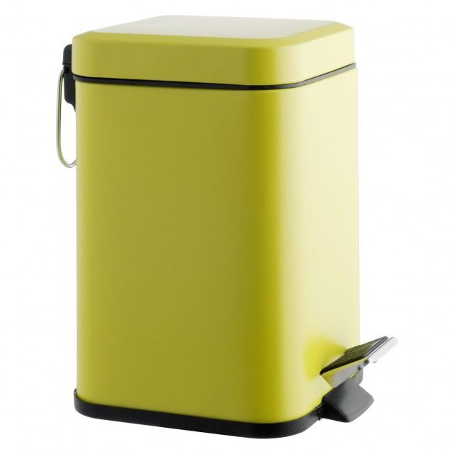 POLI Yellow stainless steel bathroom bin
