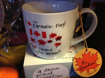 Sweetpea's ($16) - The Canadian flag is the hardest one to draw. What will you put in your new Canada mug?