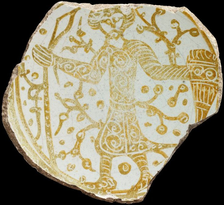 Infantryman on a fragment of a Fatimid Plate, Victoria & Albert Museum, London