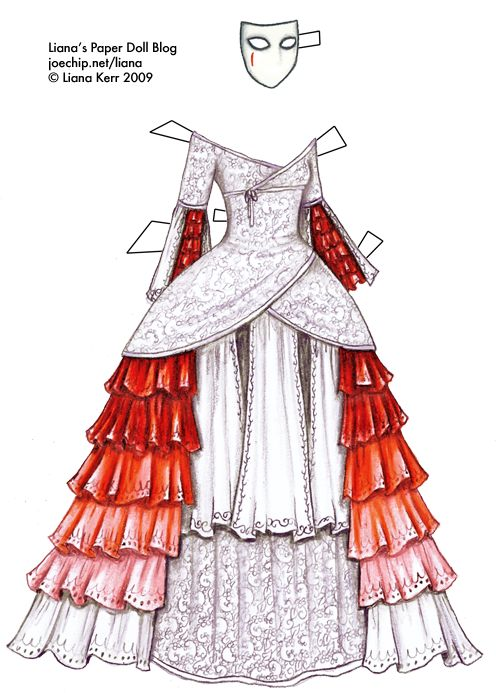 Liana's Paper Doll Blog » masquerade gown