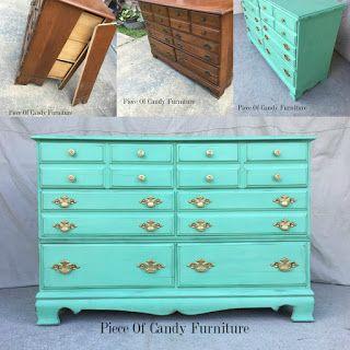 Piece Of Candy Furniture: Mint Teal Antique Dresser.