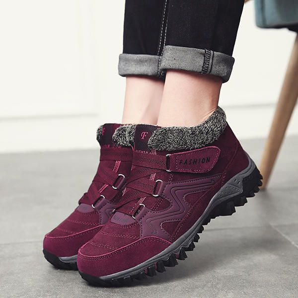 Large Size Women Non Slip Hook Loop Casual Ankle Boots - US$42.69