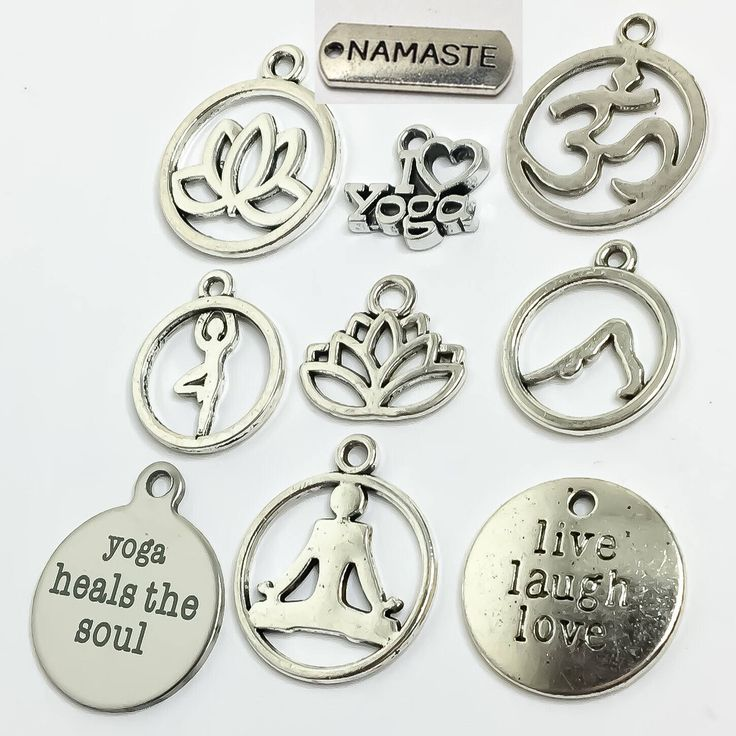 Yoga Charms, Fitness Charms, Yoga, Yogi, Namaste, OHM, Tree Pose, Gift Ideas, Gifts for Her, Lotus Flower, Never Give Up, Fitness Jewelry, by MissFitBoutiqueCA on Etsy https://www.etsy.com/ca/listing/536267885/yoga-charms-fitness-charms-yoga-yogi
