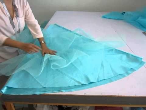 como hacer una faldilla de tul o crinolina 4. ARMADO - YouTube