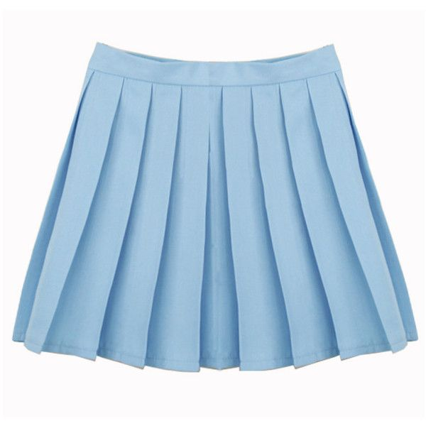 LIGHT BLUE SKIRT ($13) ❤ liked on Polyvore featuring skirts, blue, light blue skirt, button skirt, checkered skirt, zipper skirt and checked skirt