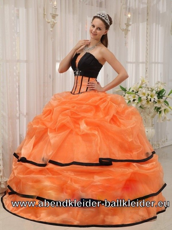 ber ideen zu orange ballkleider auf pinterest. Black Bedroom Furniture Sets. Home Design Ideas
