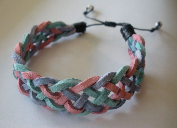 How to close off suede lace bracelet with leather cord?!? PICTURE INCLUDED - Jewelry Making Daily